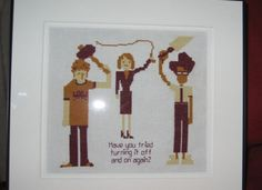 The Most Epic Cross Stitches Ever! IT Crowd <3 That's it! I need to learn to cross stitch for this reason alone!