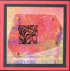 Greeting Card - Orange Abstract