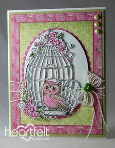 Heartfelt Creations   Pink Owl Bungalow