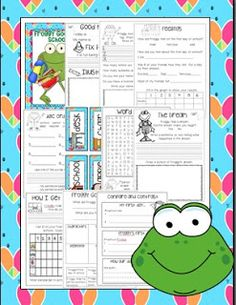First Day Froggy Theme!
