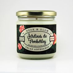 Gardens of Pemberley Soy Candle for lovers of books