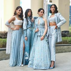 Trending Sister Of The Bride Outfit Ideas For Every Wedding Function! - - Check out trending wedding dresses ideas for the sister of the bride. Bridesmaid outfit ideas and bridesmaid dresses inspirations at ShaadiWish. Indian Bridal Outfits, Indian Designer Outfits, Indian Designers, Designer Dresses, Indian Attire, Indian Ethnic Wear, Sangeet Outfit, Indian Gowns Dresses, Bride Sister