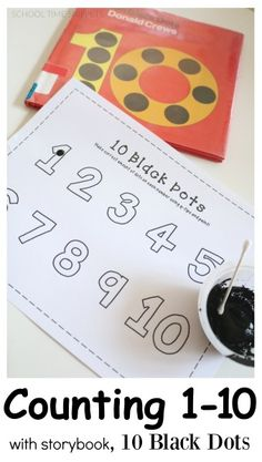 Have fun counting to 10 with this fun, hands-on printable inspired by the storybook, 10 Black Dots!