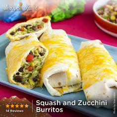 "Squash and Zucchini Burritos | ""A tasty veggie burrito and good way of getting kids to eat veggies!"" - M0M"