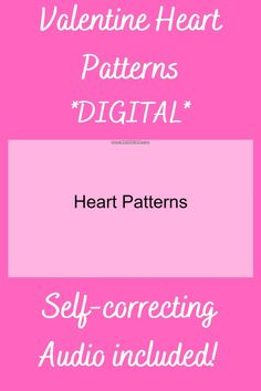 This Google Slides resource is SELF-CORRECTING and contains AUDIO directions and feedback! 8 independent activities for young learners! #Valentine #Valentine'sDay #ValentinesDay #Hearts #Heart #patterns #ColorPattern #PicturePattern #Preschool #Kindergarten #DistanceLearning #DigitalLearning