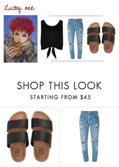 """""""Untitled #396"""" by g97style ❤ liked on Polyvore featuring Billabong, Levi's, New Look, EXO, chanyeol and luckyone"""