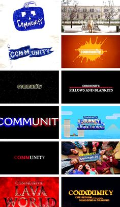 Community: every special opening Community Series, Community Tv Show, Community College, Best Tv Shows, Best Shows Ever, Favorite Tv Shows, My Favorite Things, Movie Lines, Comedy Show