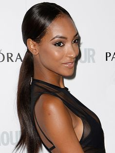 Want a low & sleek ponytail like Jourdan Dunn's? Use the Harry Josh Blow Dryer to help eliminate frizz and add shine!- Allure.com