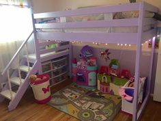 Camp Loft Bed with Stairs | Do It Yourself Home Projects from Ana White