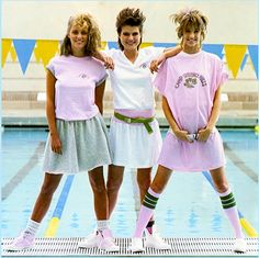 Typical Valley Girl Look of The 1980s