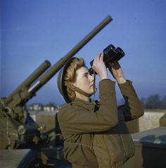 'Ack Ack Girls' were members of the Auxiliary Territorial Service (ATS) that helped operate Anti-Aircraft Guns in the defense of Britain from German bombing raids during World War 2 ~
