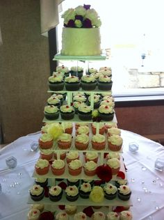 Rowell's Specialty Cakes  Wedding cake cupcake towers
