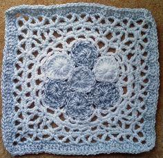 Kalevala Cal - Square 2 - -Bluebill's Nest - designed by Taina Tauschi - Crocheted Sept