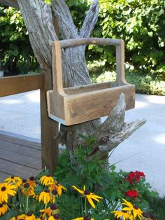 Barn wood Caddy toolbox barn board rustic and by rusticrevivals, $32.00