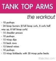 Easy arm workouts do these once a day for one month for smaller toned arms