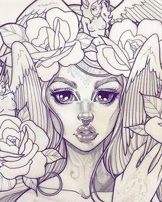 Deetz ✨ #wip #graphicartery #artshare #artwork #myart #sketch #drawing #artsy #arte #art #artnerd #artist #illustration #artistsoninstagram #tattoos #instaart #artcollective2015 #artfido #im_gallery #art_spotlight #art_motive #worldofpencils #worldofartists #spotlightonartists #instartpics #ink # #unicorns #fairies #tattoos #pegasus