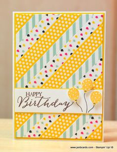 JanB Handmade Cards Atelier: More playtime with Washi Tape                                                                                                                                                      More
