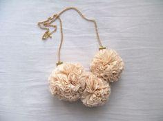 Pompom necklace.