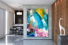 This item is unavailable Oversized Wall Art, Bright Paintings, Contemporary Artwork, Office Art, Abstract Wall Art, Large Wall Art, Original Paintings, Canvas Art, Gallery Wall