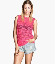 H&M Lace-knit Tank Top $17.95