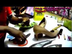 Ankara shoe making - YouTube
