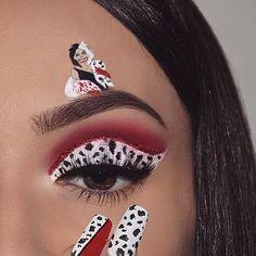 Creative Eye Makeup, Eye Makeup Art, Clown Makeup, Dalmatian Halloween, Dalmatian Costume, Cute Halloween Makeup, Halloween Make Up, Halloween Costumes, Dalmation Makeup