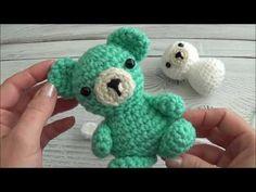 Crochet Your Own Mini Bear Part 4 Ears and Tail Sharon Ojala, Preemie Babies, Bear Ears, Crochet Animals, Crochet Projects, Dinosaur Stuffed Animal, Make It Yourself, Teddy Bears, Toys
