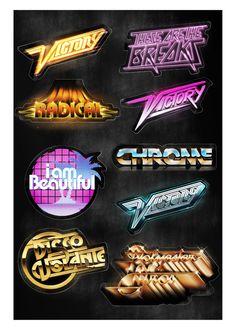70s & 80s Type Inspiration  Rad Typography 1.0 by Sean Kane  , via Behance