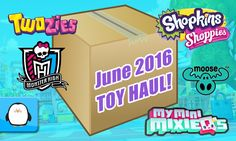 GIANT SURPRISE TOY BOX OPENING Twozies Shopkins Dolls Monster High My Mini Mixie Q's New 2016 Haul by Sparkle Spice.  Subscribe here to never miss a video: https://www.youtube.com/channel/UCsRW8ikkc-uISUXtNKBfFcw?sub_confirmation=1  This is my giant toy surprise box for my June 2016 new toy haul! Inside I have tons of new Twozies by Moose including a case of 2 packs over 12 different 12 packs and 2 packs.  I also have the new Shopkins Shoppies Dolls named Sara Sushi and Rainbow Kate! I also…