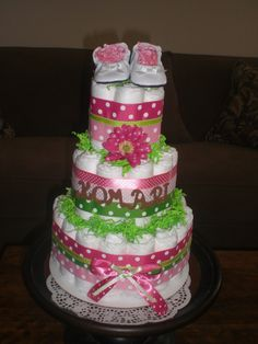 pinterest girl baby shower | ... Girl Diaper Cake Baby Shower Centerpieces Gift Other Cake on Pinterest