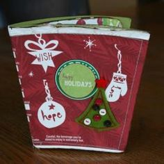Mini album from recycled Starbuck coffee cups