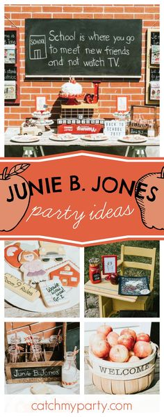 Don't miss this fabulous Junie B. Jones themed Back to School party! The cookies are so cute!! See more party ideas and share yours at CatchMYParty.com #juniebjones #backtoschool