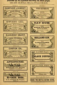 This vintage pharmacy label sampler from 1874  features some beautiful period work.  It's filled with easily re-purposed art perfect for any...