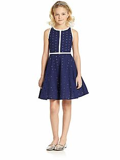 KC Parker by Hartstrings Girl's Eyelet Dress  Because I still fit on kids clothes