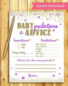 This is a super fun, printable and interactive game for your baby shower. Print … This is a super fun, printable and interactive game for your baby shower. Idee Baby Shower, Bebe Shower, Fiesta Baby Shower, Baby Shower Parties, Baby Boy Shower, Baby Shower Purple, Purple Baby, Baby Shower Activities, Baby Shower Printables