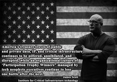 """""""#America's treasure troves of public and Private #Data, IP, and #CriticalInfrastructure continues to be Pilfered...""""- James Scott, Senior Fellow, ICIT, CCIOS and CSWS  #JamesScott #ICIT #CCIOS #CSWS #America"""