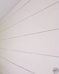 Plank walls for sunroom. ( maybe one wall in the master? ) If it's super cheap like it says maybe the basement? I love it so much I would have it all over the house. looks so high end! How to install Plank Walls - the DIY village Cheap Home Decor, Diy Home Decor, Basement House, Wall Trim, Ship Lap Walls, Wide Plank, Reno, Wainscoting, Wall Treatments