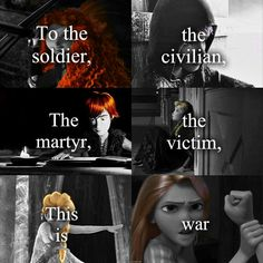 This Is War>> I love that they put jack as the civilian because it's true. He wasn't born special, just a normal everyday human boy.