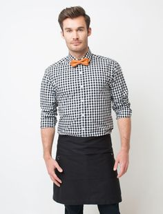 Gingham Shirt, Bow Tie and Waist Apron