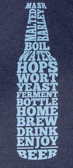Home Brew Beer Bottle Home Brew Shirt by StarkOriginals on Etsy