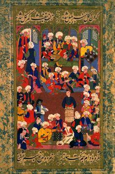 Osmanen beim Kaffeetrinken/Chester Beatty Library, Dublin