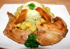 Szőlős sült nyúl recept foto Jamie Oliver, Baked Potato, Turkey, Potatoes, Cheese, Meals, Chicken, Baking, Ethnic Recipes
