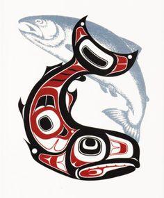 Haida design Plus Haida Kunst, Arte Haida, Haida Art, Arte Inuit, Inuit Art, Arte Tribal, Tribal Art, Sketch Manga, Native American Symbols