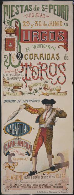 2 corridas de toros. Plaza de toros de Burgos — Dibujos, grabados y fotografías — 1850-1900?