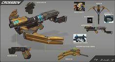 ArtStation - Weapon series 1_crossbows, Rock D