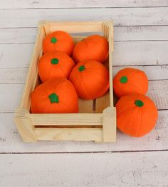 ONE Felt Mandarine Tangerine Citrus Clementine Sewn Full-Sized Fruit Farmers Market Pretend Food Montessori Toys For Kids Greengrocer's