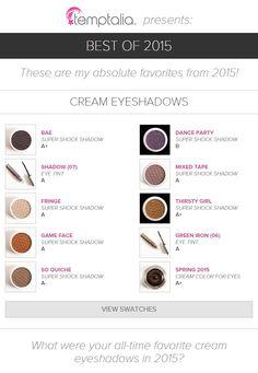 Top 10 of 2015: Best Cream Eyeshadows   temptalia