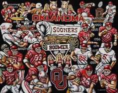 Sports Print -- Thomas Jordan Gallery Painting -- Sooners Tribute -- $75.00