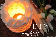 blick7: DIY Windlicht [aus Wachs und Eiswürfeln]