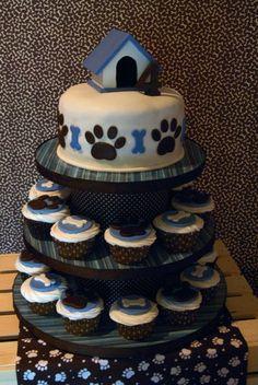 204 Puppy Party Part 1 The Details Dog Birthday CakesPuppy